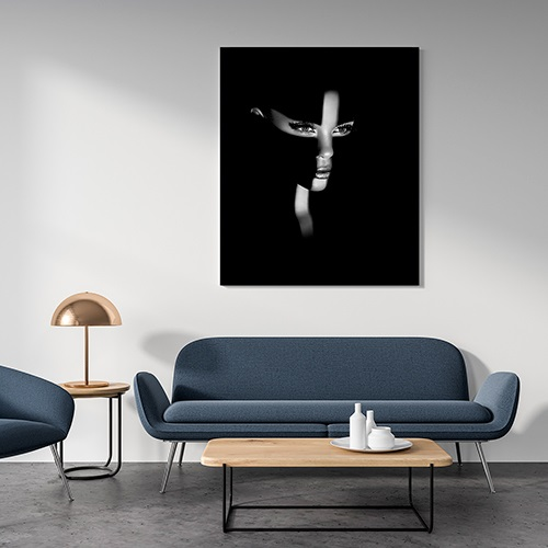 Beautiful photography fine art print by Samuel Zlatarev hung on a gray wall in a luxury home
