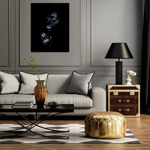 Beautiful canvas photography fine art print by Samuel Zlatarev hung on a gray wall in a luxury home